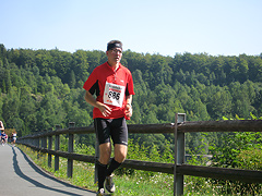 Lauf um die Aabachtalsperre