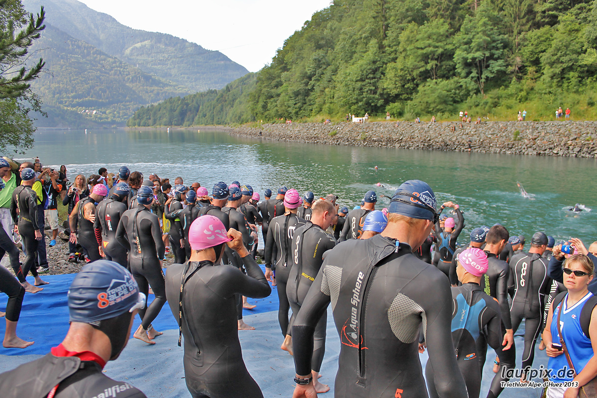 Triathlon Alpe d'Huez - Swim 2013 - 10