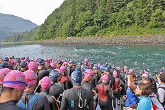 Triathlon Alpe d'Huez - Swim 2013 - 16